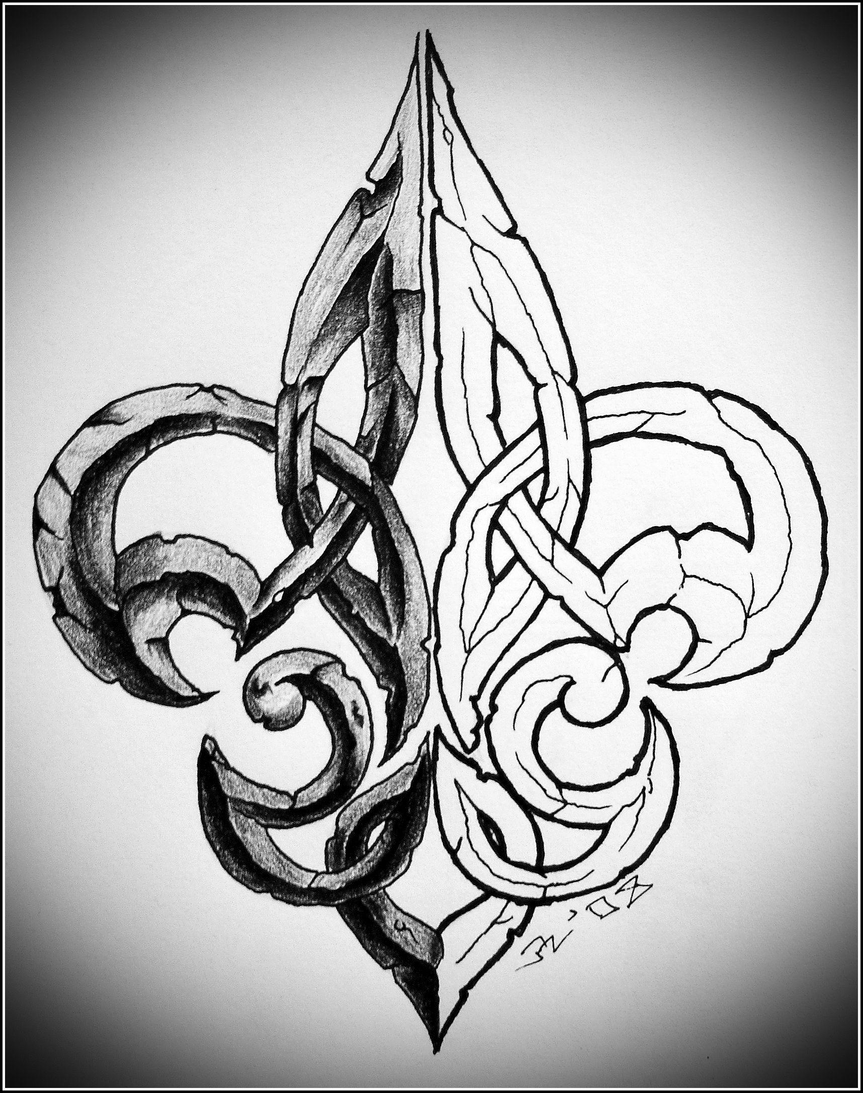 Christien louviere tattoos pinterest tattoos fleur de lis tattoo and tattoo designs - Tattoo tribal fleur ...