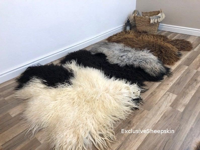 Mix Color Amazing Genuine Sheepskin Rug 100 Sheep Skin Etsy In 2020 Sheepskin Rug Rug Decor Color Mixing