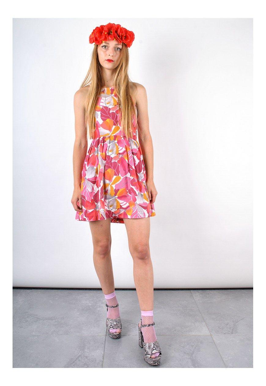 90s Strappy Vintage floral Mini Smock Dress | Vulgar | ASOS Marketplace
