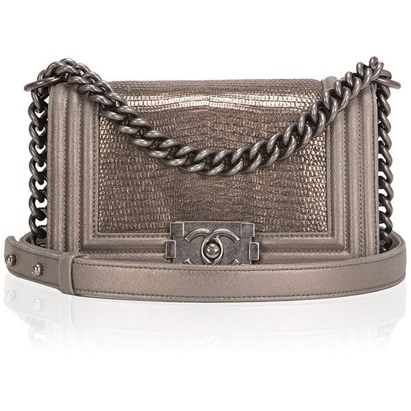 20f53c6ac650 Madison Avenue Couture Chanel Metallic Bronze Lizard Small Boy Bag ...