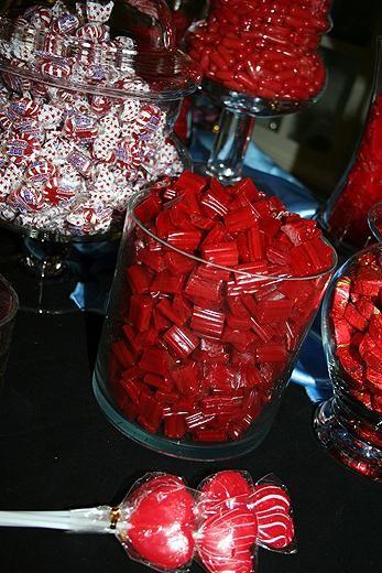 Red hot candy buffet