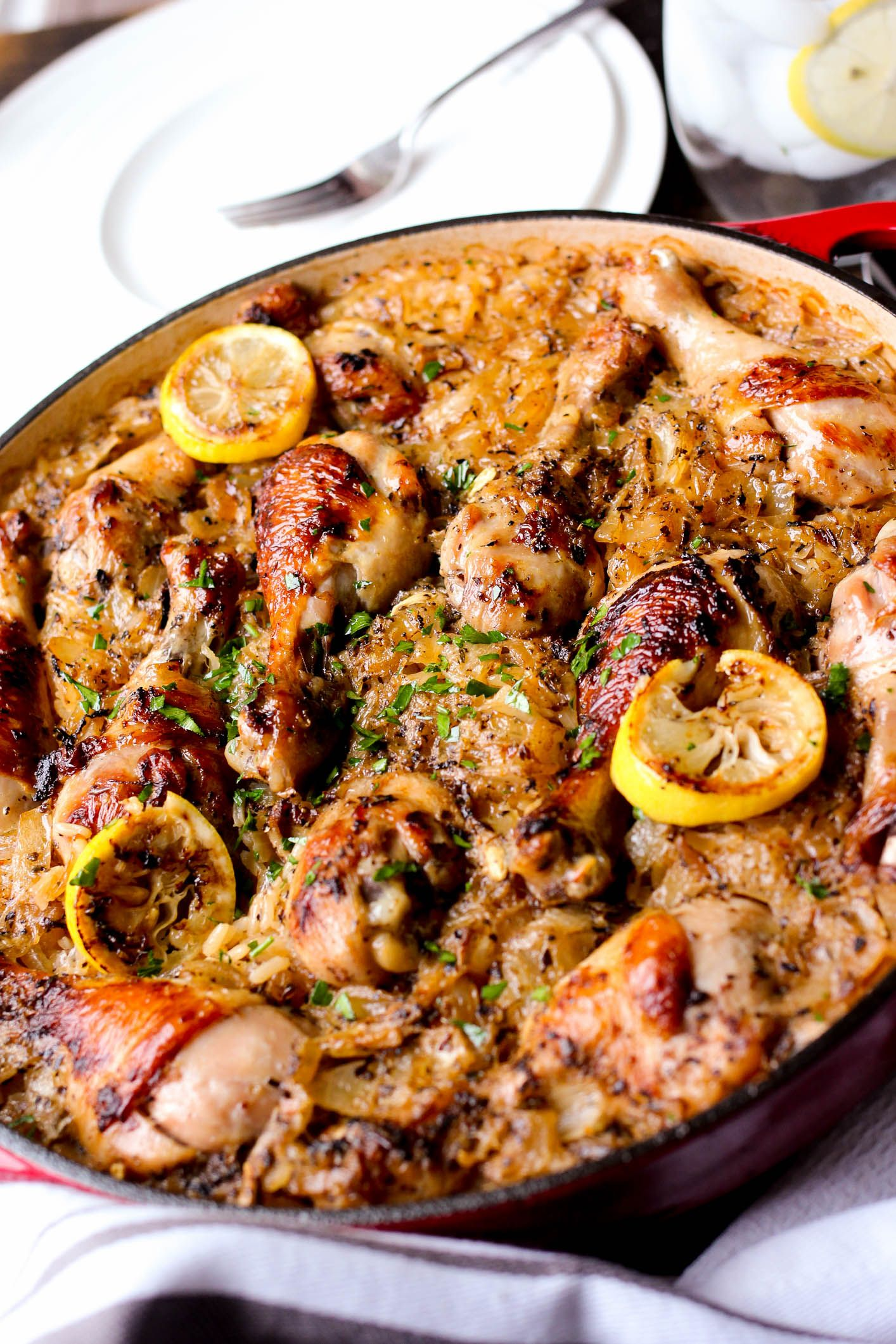 One pot roasted greek chicken and rice recipe greek chicken pot one pot roasted greek chicken and rice forumfinder Choice Image