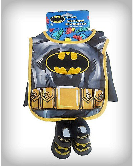 Batman Caped Bib & Bootie Set - Spencer's