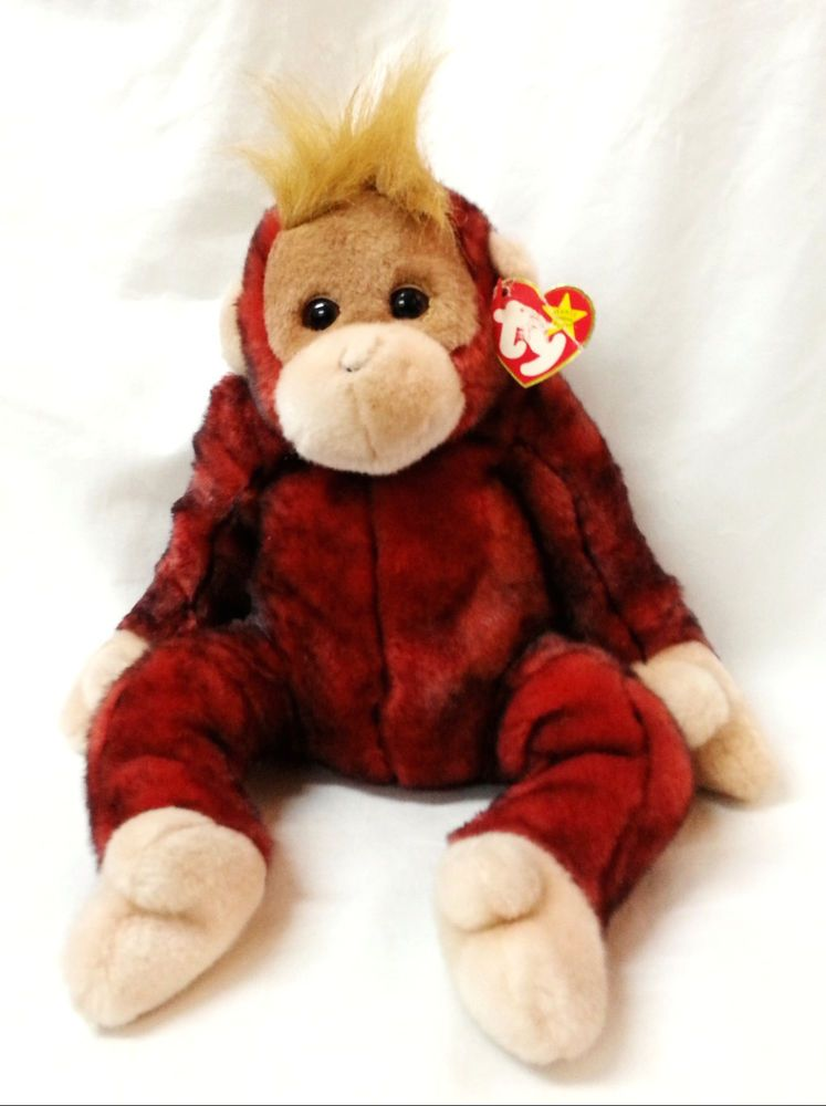 71a9e6256e6 TY Beanie Buddy Orangutan Plush Monkey Schweetheart Tip Dyed Retired 14
