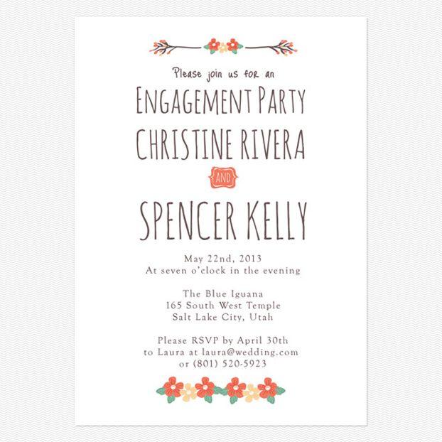 Engagement Party Invitation Ideas | Wedding Ideas...Invites + Paper ...