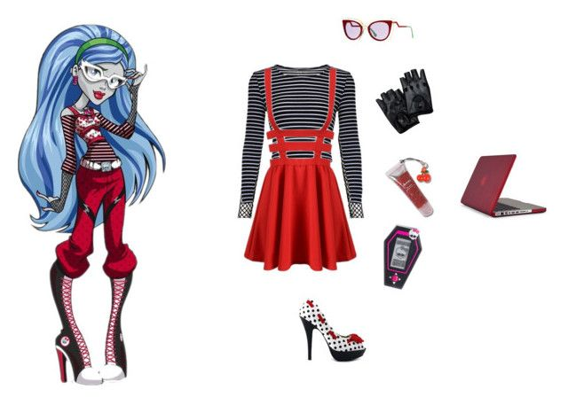 """""""Ghoulia"""" by dead-head-dolly ❤ liked on Polyvore featuring Motel, Fendi, Speck and Mattel"""