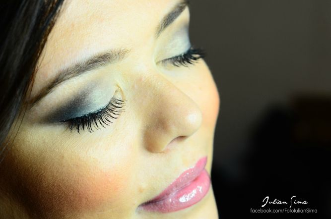 Machiaj De Seara Albastru Otel Grey And Dark Blue Make Up My