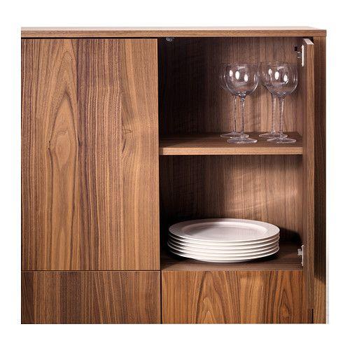 Kitchen Cabinet Veneer: STOCKHOLM Cabinet With 2 Drawers, Walnut Veneer