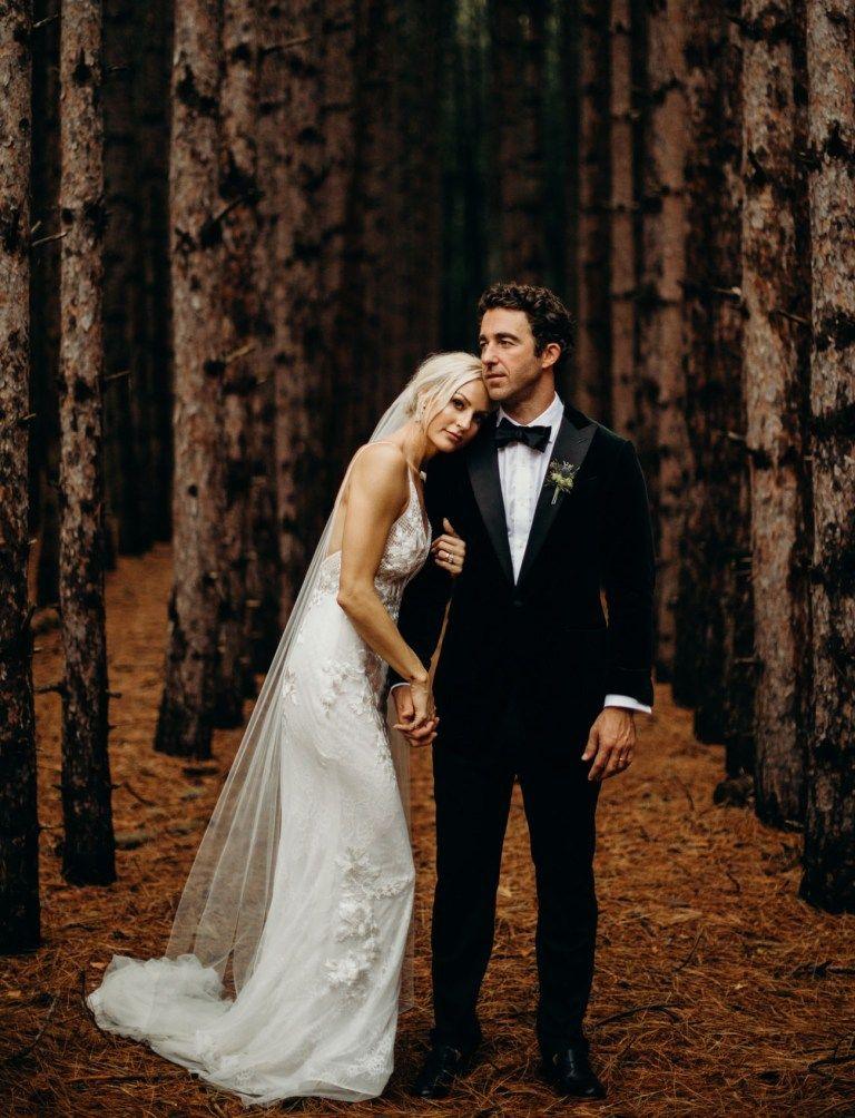 Intimate torch lake wedding wedding portrait poses