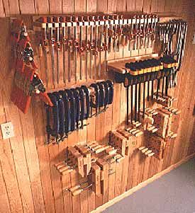 Woodshop Clamp Storage