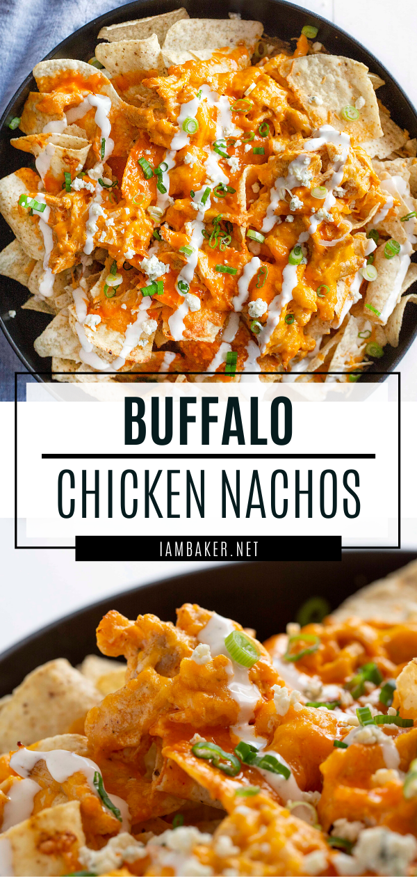 Buffalo Chicken Nachos #gamedayfood