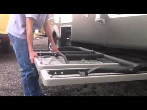 Slide Out Picnic Table Carrier Youtube Camper Storage