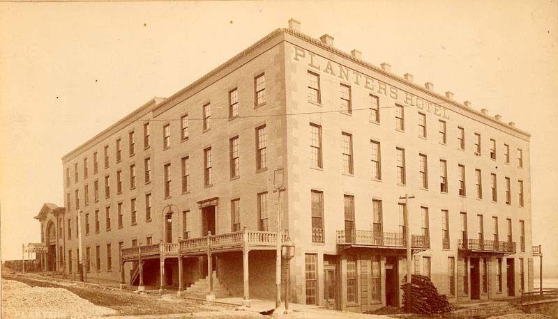 1860 Planters Hotel In Leavenworth Kansas Territory
