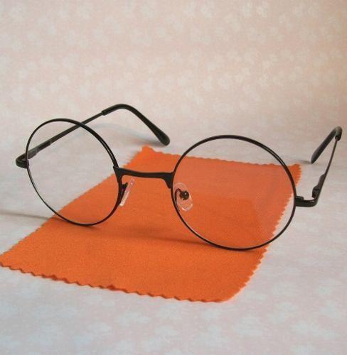 Armacao Oculos Redondo Retro Preto Estilo John Lennon Armacoes