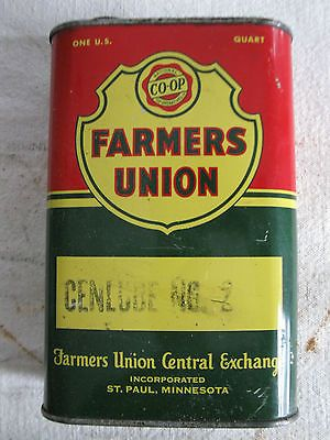 Vintage Farmers Union Co-Op Can St Paul Mn Oil Tin Sign