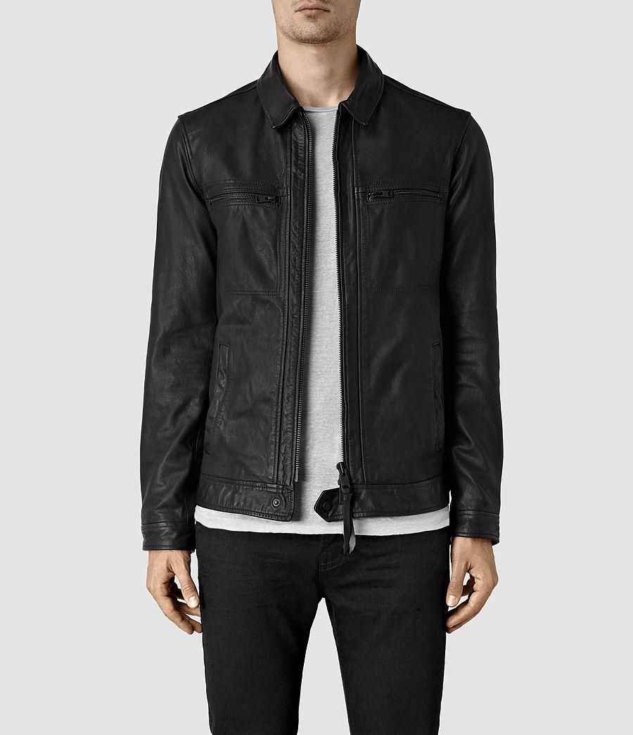 Mens Lark Leather Jacket (Black) - product image alt text 1 ... 056f1e7e3
