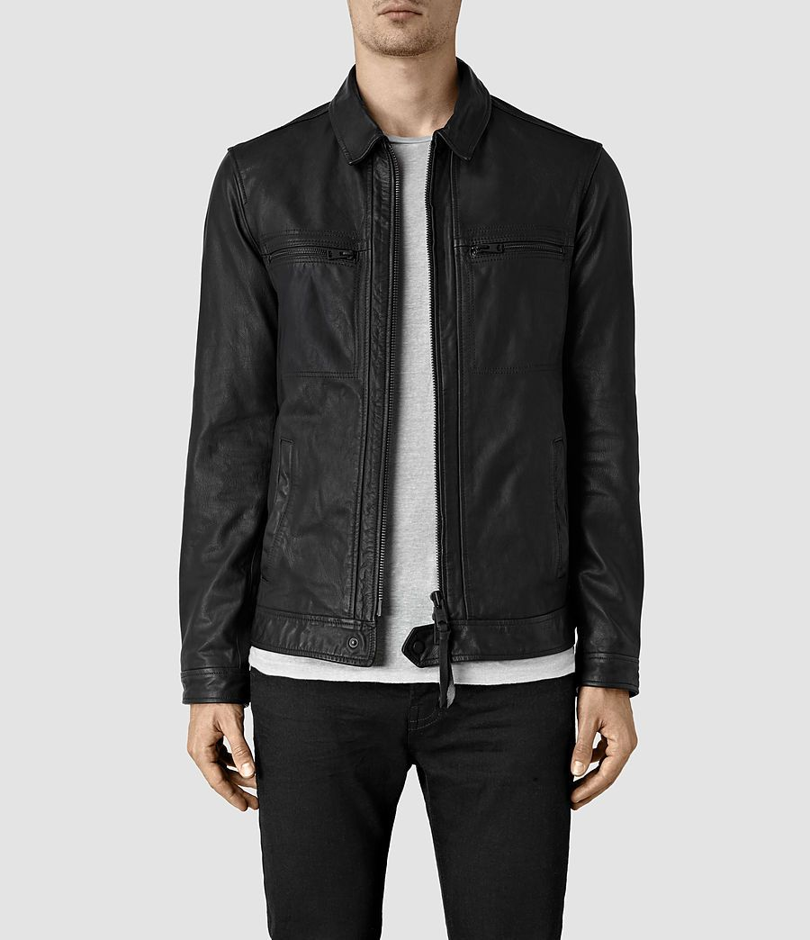 8a54188f8b5a Mens Lark Leather Jacket (Black) - product image alt text 1 ...