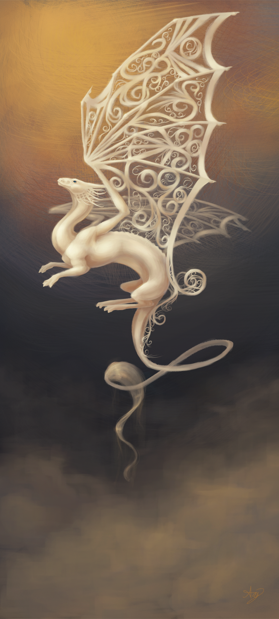 Out Of The Mist By Anghuiqing On Deviantart Fairy Dragon Dragon Wings Dragon Tattoo