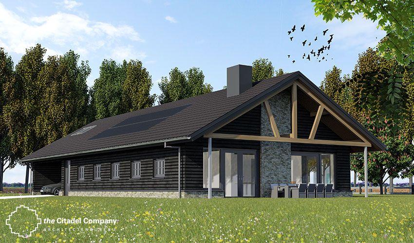 Schuurwoning schuurwoning pinterest huizen schuur huizen en - Bungalow ontwerp hout ...