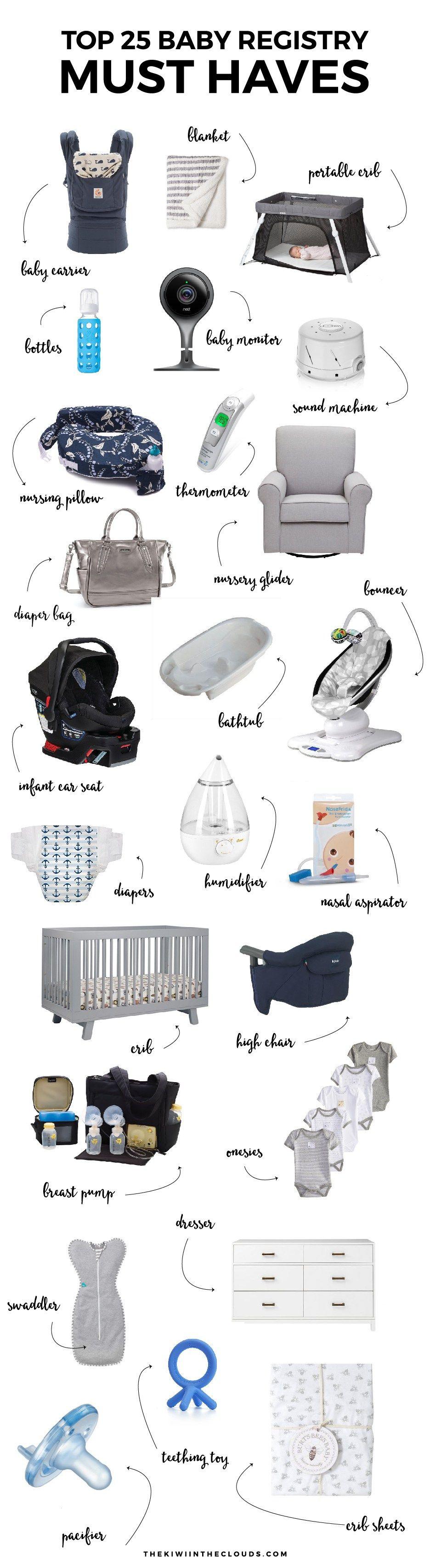 the top 25 baby registry must haves november 2018 nursery wants pinterest baby baby. Black Bedroom Furniture Sets. Home Design Ideas