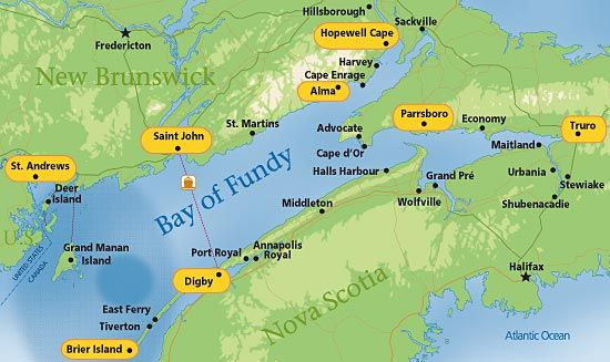 Bay Of Fundy Map Image result for map fundy bay | New Brunswick | East coast canada