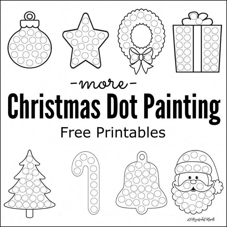 Free printable Christmas dot painting worksheets for kids These