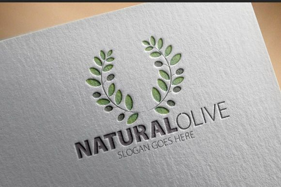 Natural Olive logo by samedia on Creative Market