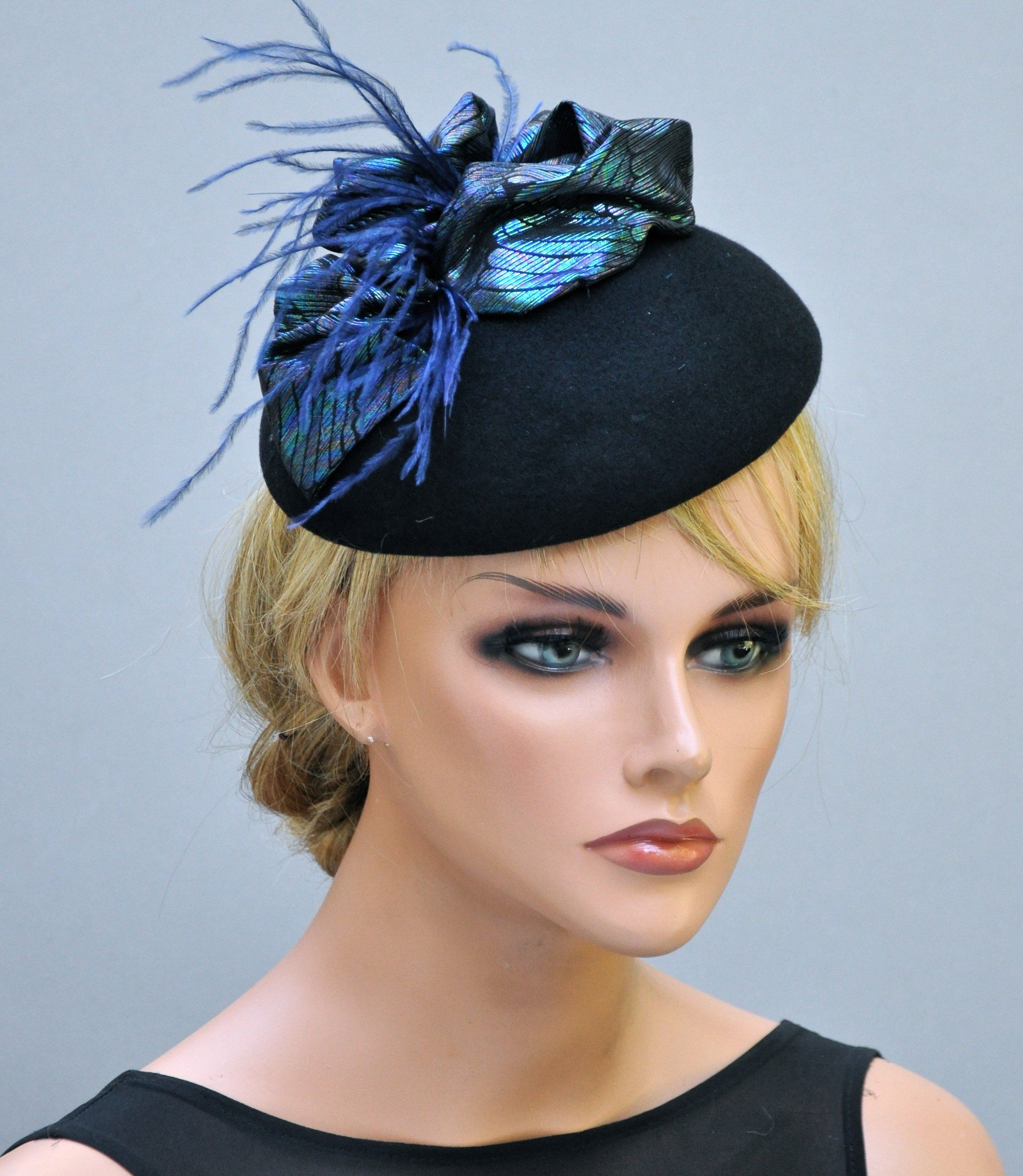 Blue Green Fascinator Hat d23cfd2be272
