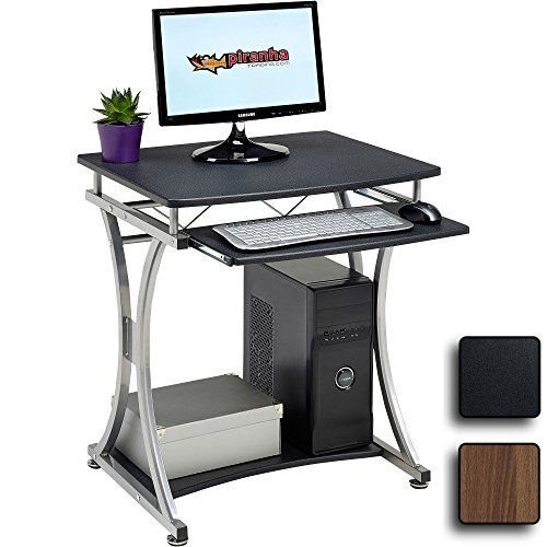 Workstation whit Sliding Keyboard 4 Wheels for Home Office White LCD811W Writing Desk Z-Shaped PC Table for Small Spaces Easy Assembly VASAGLE Computer Desk Mobile