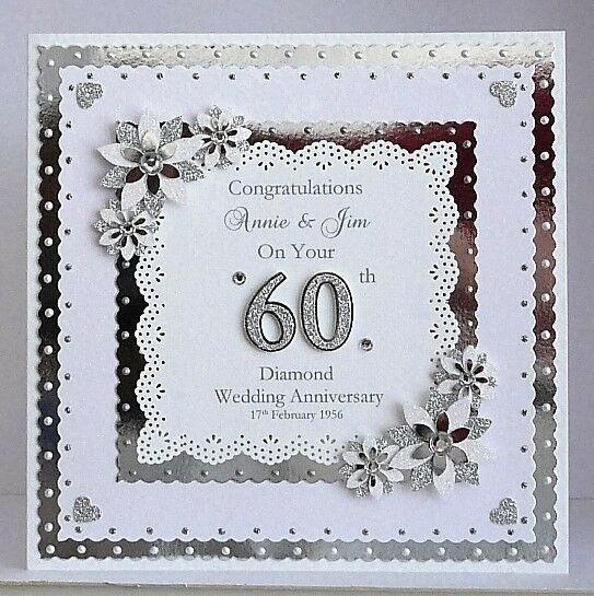 25th Silver Or 60th Diamond Wedding Anniversary Card