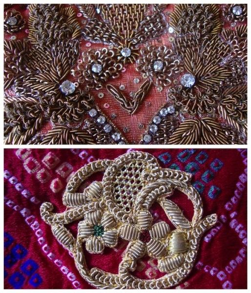 Zardozi work used on Indian bridal wear.   Lesage   Pinterest   Oro ...