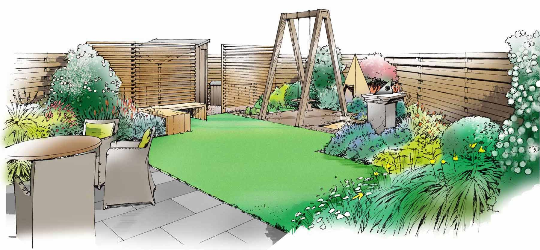small child friendly garden designs uk - Google Search ...