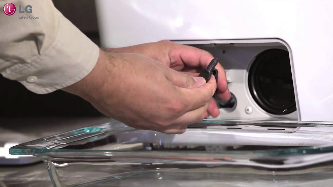 Lg Washer Cleaning The Drain Pump Filter
