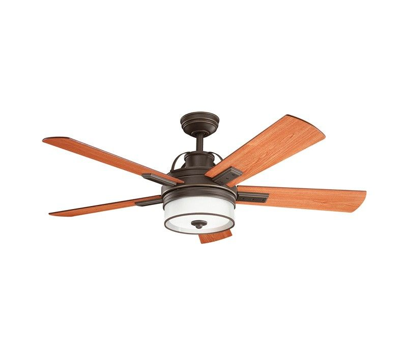 Kichler 300024oz Lacey Ii 52 Ceiling Fan With Led Light And Wall