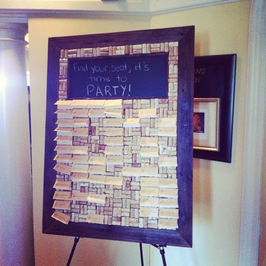 I found this picture on Google+ and had to share. A cork board in place of a place card table for weddings. Great idea!