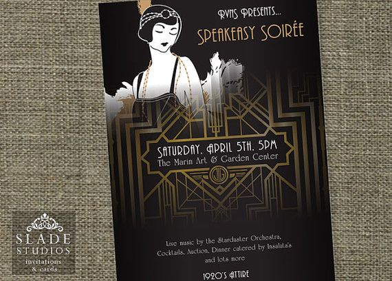 Great Gatsby Movie Style Event Poster Printable 1920s