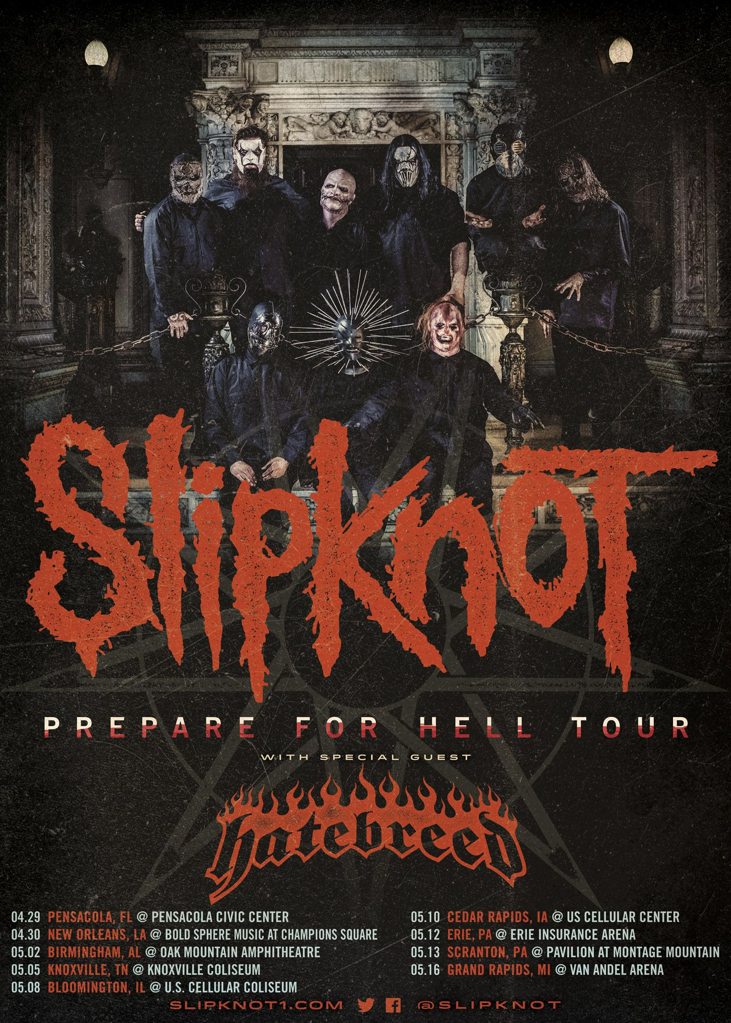 Slipknot Tour Posters Bands On Tour Tour Posters Slipknot Tour