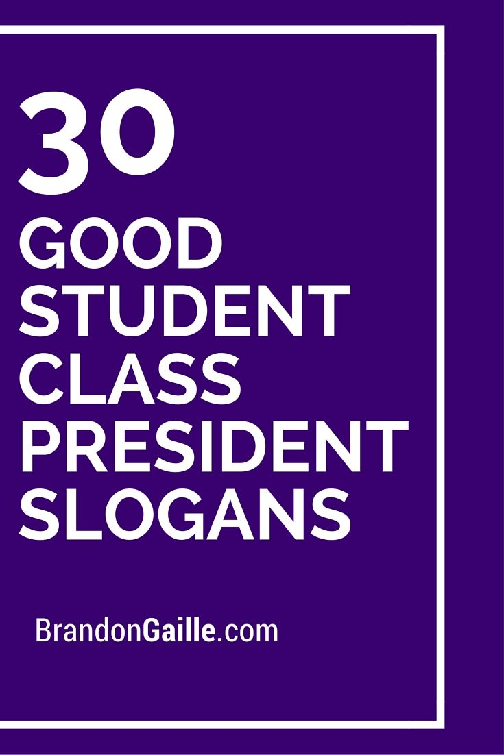 Class Representative Slogans Election Ideas