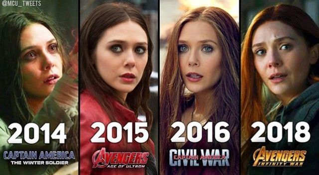 Scarlet Witch Over The Years I Can T Wait To See Her In Avengers Infinity War Scarlet Witch Marvel Scarlet Witch Avengers