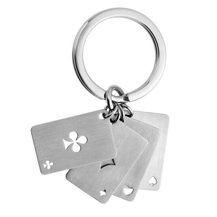 """Porte-clefs JOURDAN Acier, """"Jeu de cartes"""" - Achat / Vente porte-clés Porte-clefs JOURDAN Acier, … - Cdiscount"""