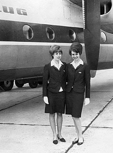 Interflug Flug 60er Jahre Flugbegleiter