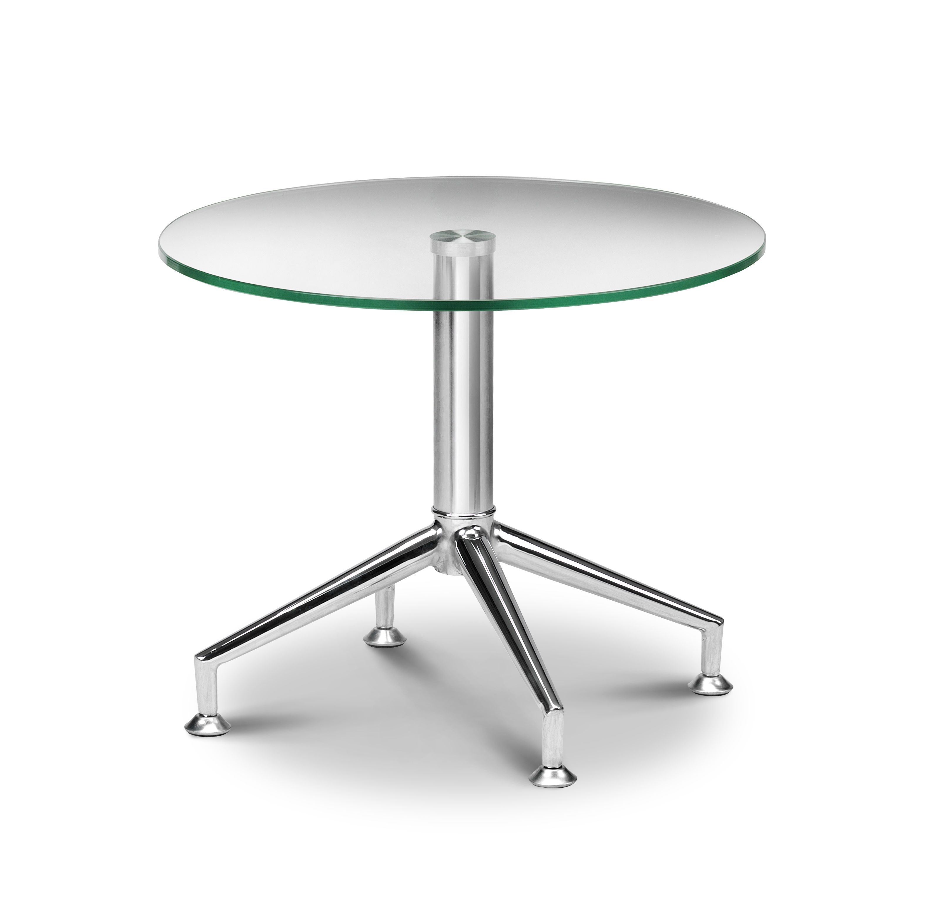 Contemporary Glass Side Table. Glass And Chrome Table