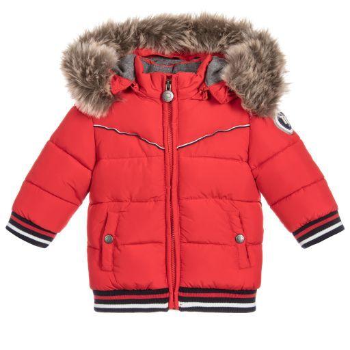 25b9b17fc Tartine et Chocolat-Red Padded Puffer Coat