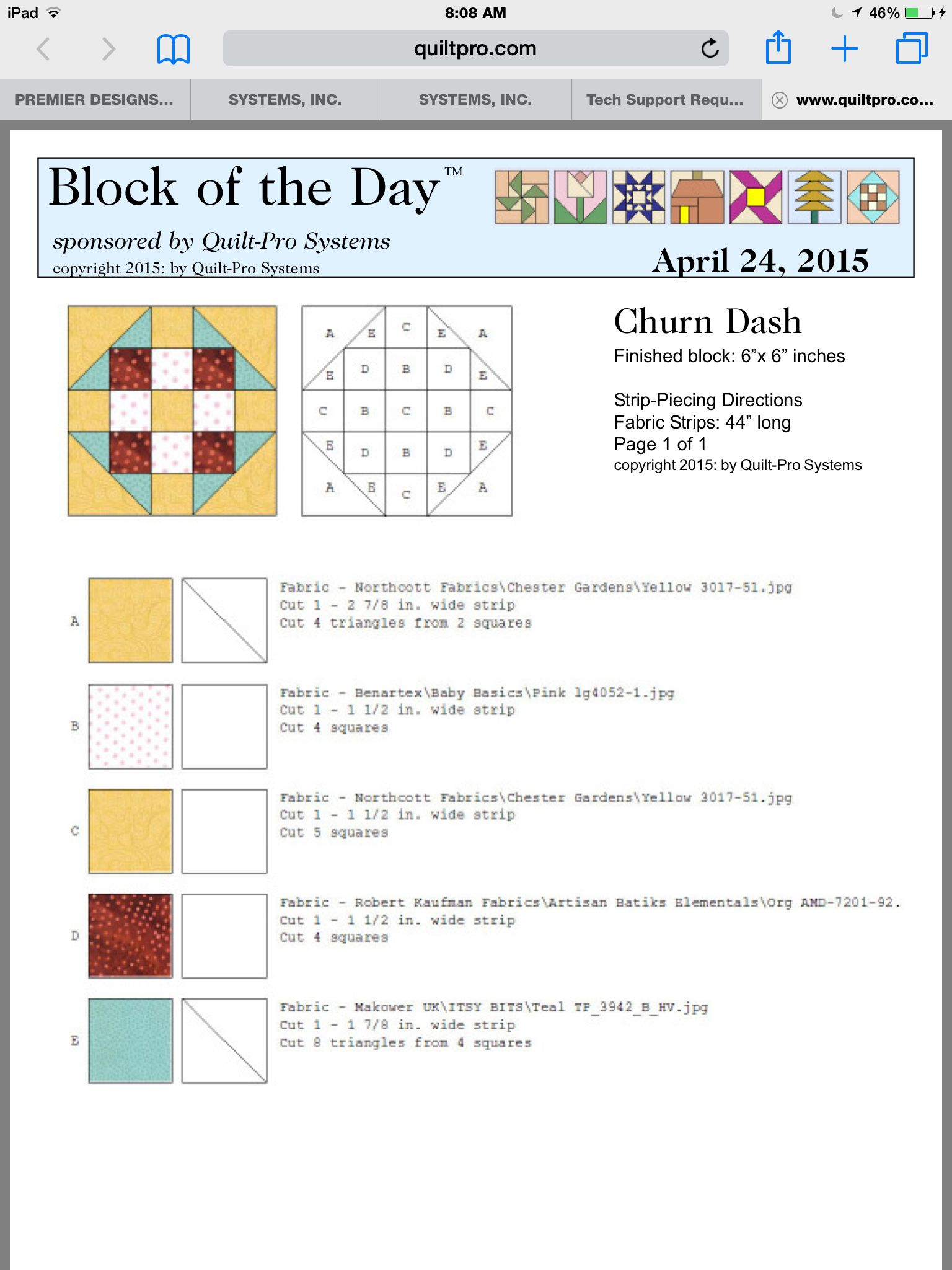 Block of the day | Patchwork | Pinterest | Bloques y Cuadricula