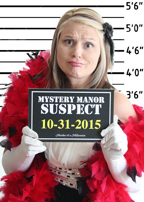 Create your own mugshots for your guests at Murder of a Millionaire! Suspect…