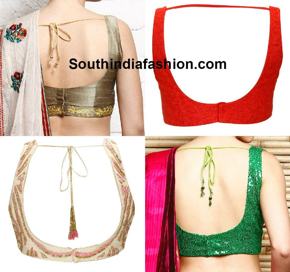 Blouse designs saree blouse back designs blouses neck designs 30 jpg - Blouse Neck Designs Latest Neck Designs For Saree Blouse And Salwar Kameez Neck Designs Neck Blouse Designs Blouse Neck Patterns