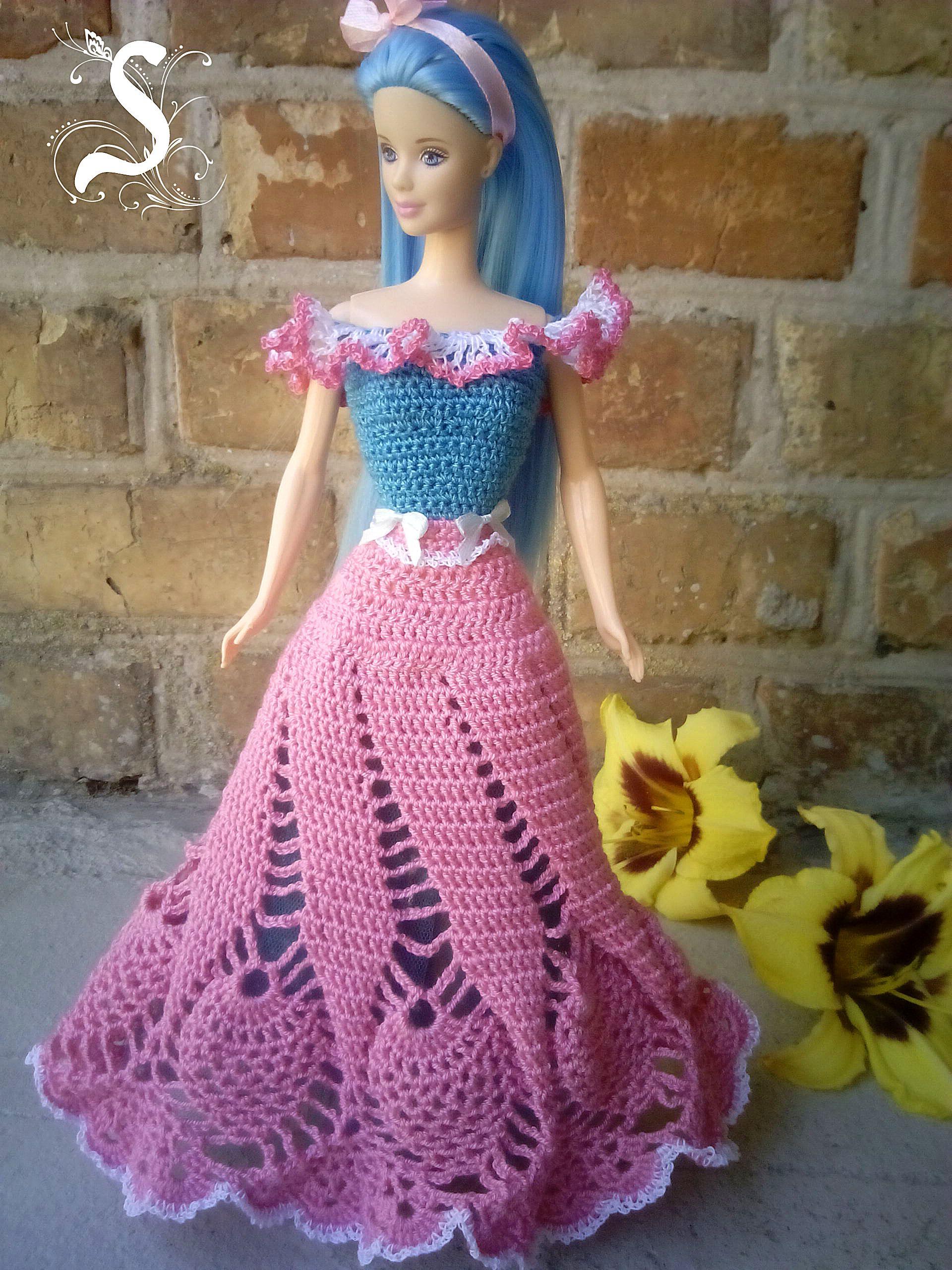 สวยมากคะ   b : Barbie jolie robe longue au crochet   Pinterest ...