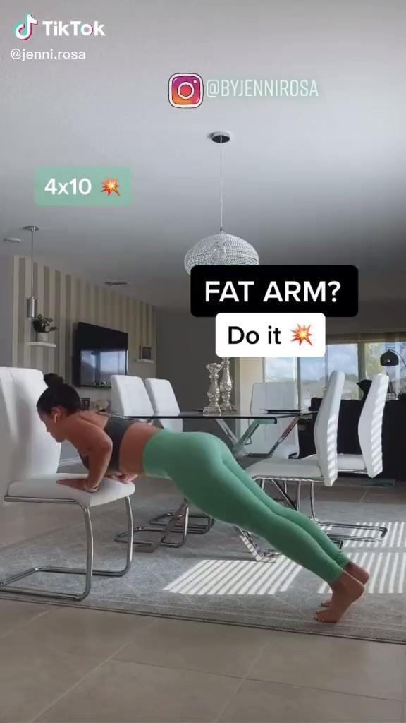Arm fat workout