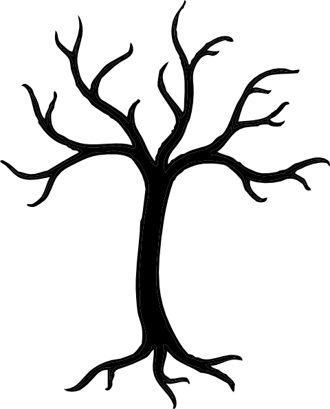 free tree stencils black tree clip art vector clip art online rh pinterest com free christmas tree clipart black and white