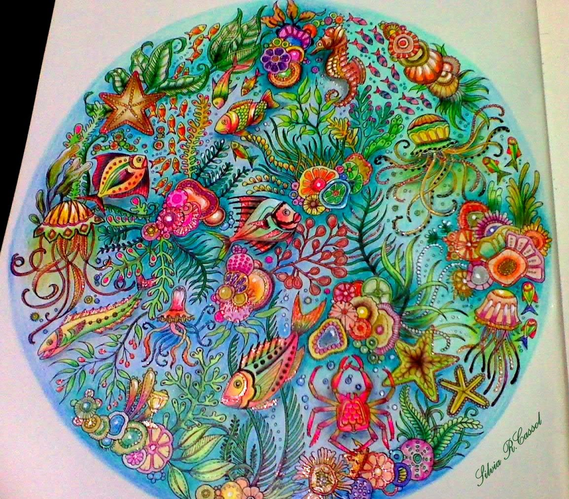 Lostocean Page 1 Circle Of Life Lost Ocean Coloring Book Johanna Basford Coloring Enchanted Forest Coloring Book
